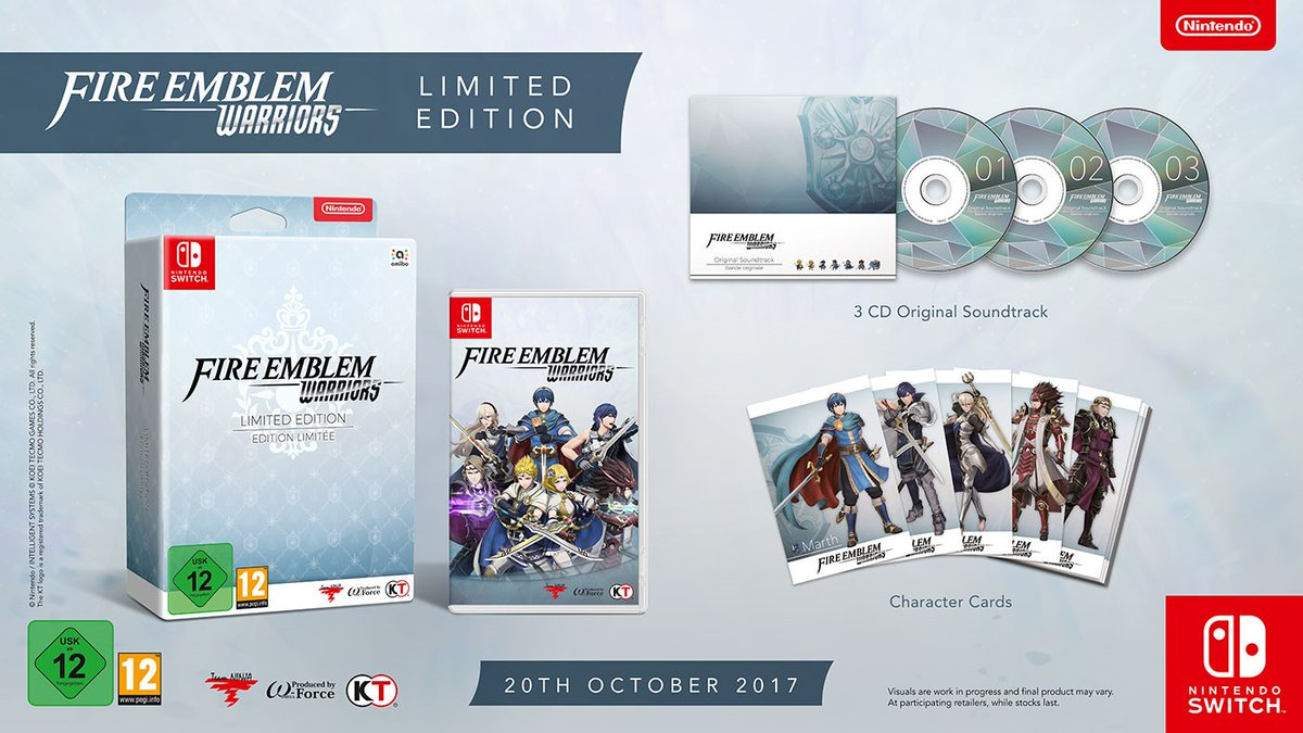Fire Emblem Warriors:  Limited Edition é anunciado para Europa