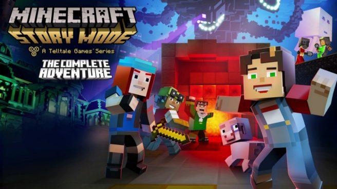 Primeiro episódio de Minecraft: Story Mode – The Complete Adventure para Switch