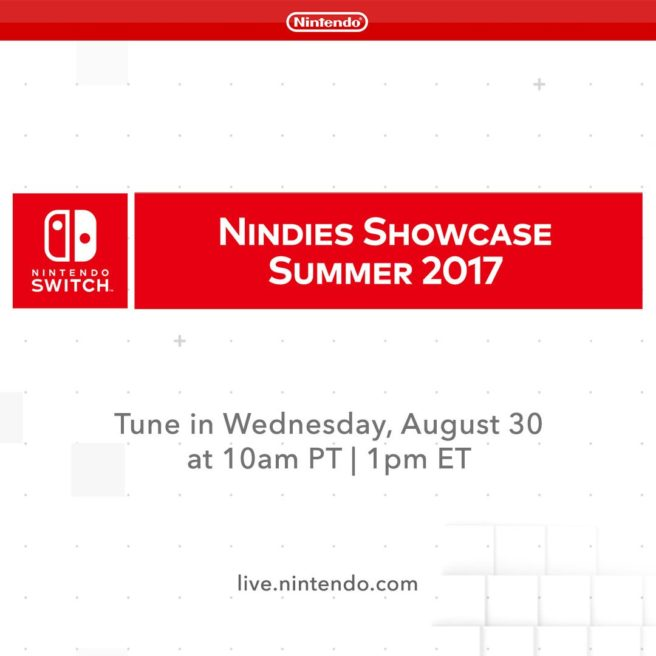 Nintendo anuncia Nindies Showcase para quarta-feira