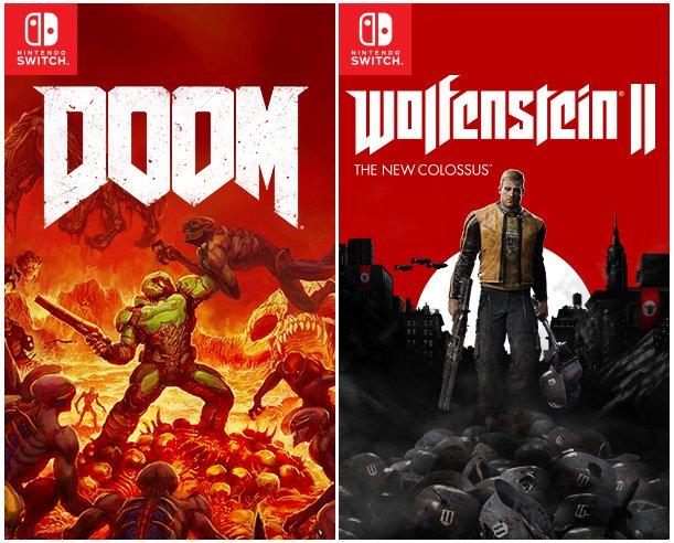 Wolfenstein II: The New Colossus e DOOM são anunciados oficialmente para o Nintendo Switch