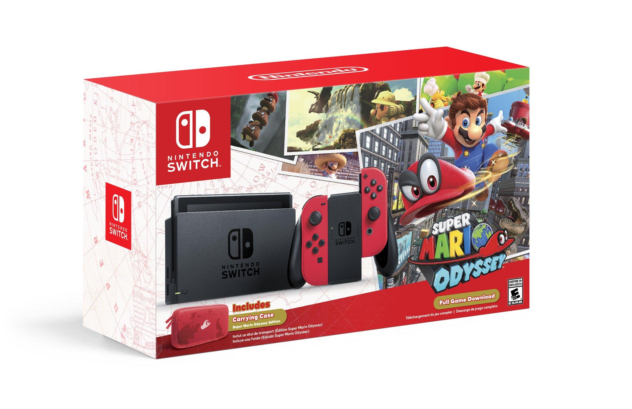 Nintendo revela Bundle de Nintendo Switch com Super Mario Odyssey para o próximo mês