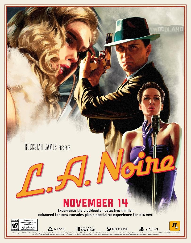 Rockstar Games anuncia nova versão de L.A. Noire para Nintendo Switch