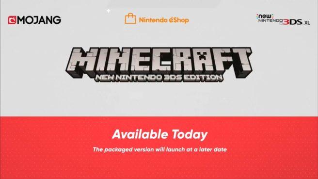 [Atualizado] Minecraft: New Nintendo 3DS Edition foi lançado hoje