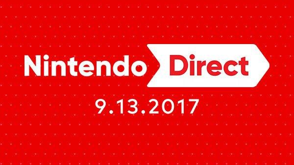 Nintendo Direct anunciada para o dia 13 de setembro