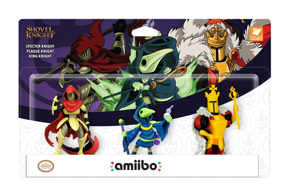 Revelados novos Amiibos de Shovel Knight