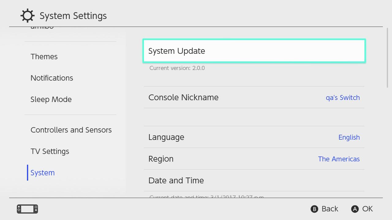 Switch recebe nova atualização (4.0.1); saiba mais