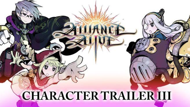 Trailer com 3 novos personagens do futuro jogo de 3DS, The Alliance Alive