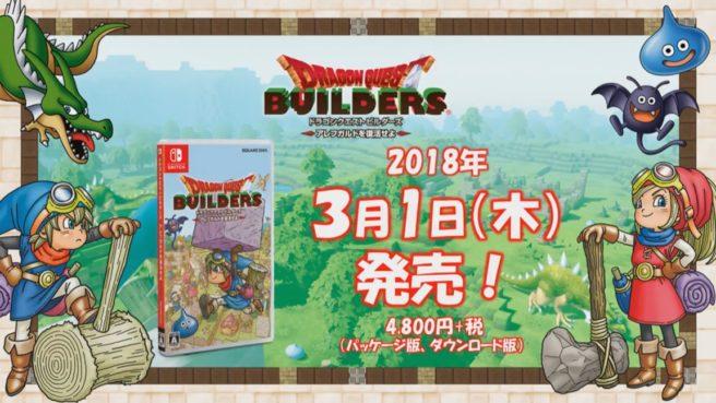 Dragon Quest Builders  será lançado em março de 2018