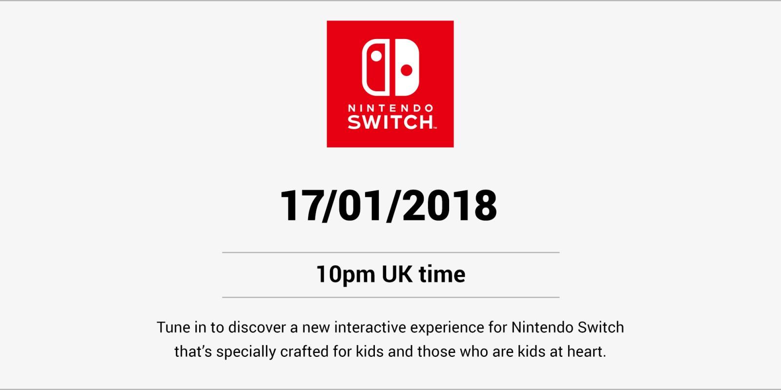 Nintendo fará uma revelação hoje
