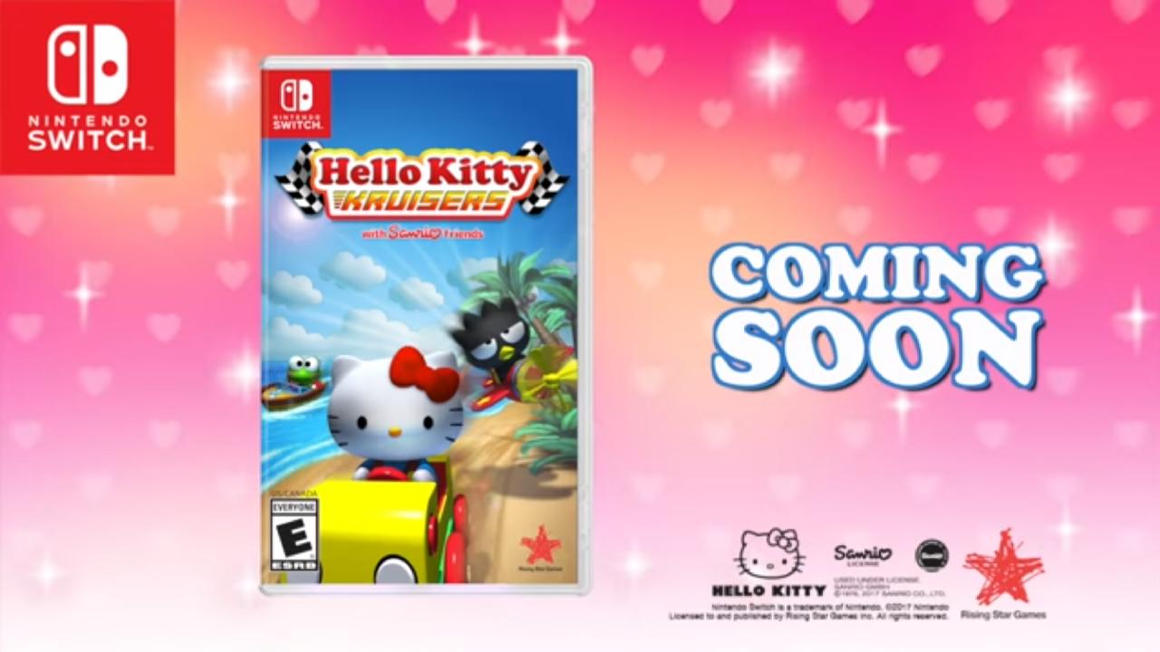 Rising Star Games anuncia oficialmente Hello Kitty Kruisers para o Nintendo Switch, jogo chega durante a primavera