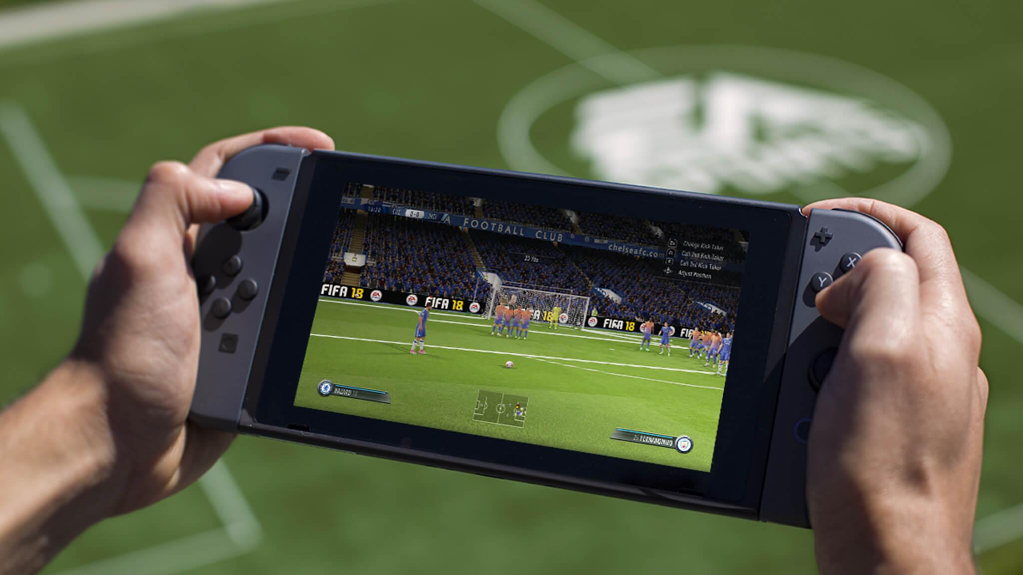 Vendas de FIFA 18 para Switch subiram 494% na última semana no Reino Unido