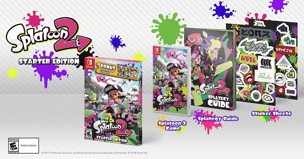 Nintendo anuncia Splatoon 2 Starter Edition para América do Norte