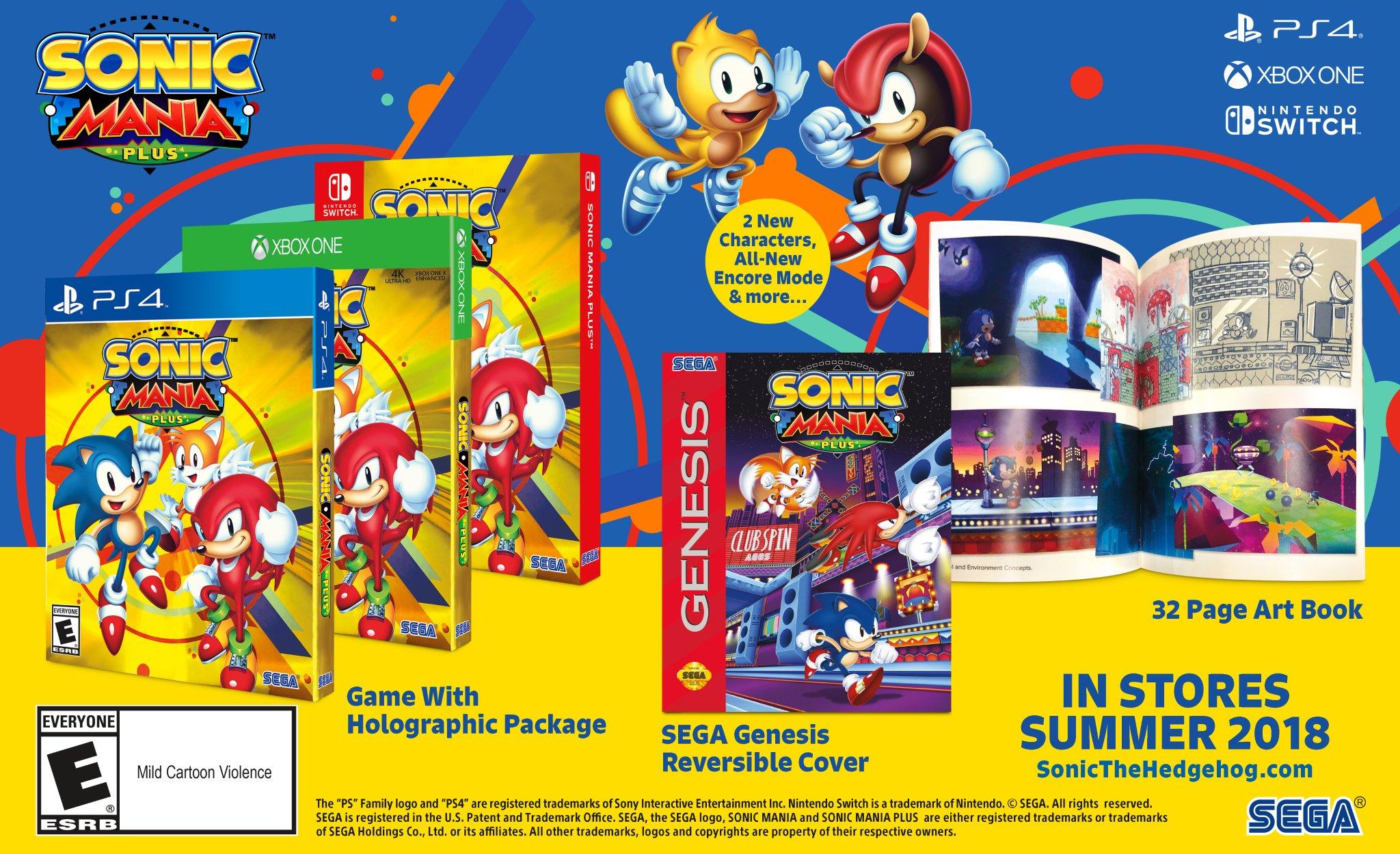 SEGA anuncia versão física de Sonic Mania para o Nintendo Switch