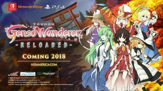 Futuro jogo de Switch, Touhou Genso Wanderer Reloaded ganha data de lançamento
