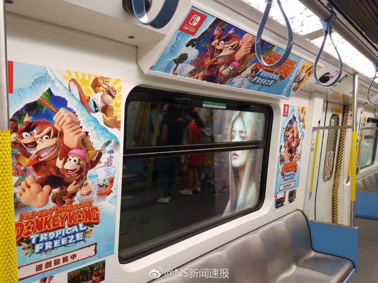 A Nintendo está fazendo propagandas no metrô chinês para Donkey Kong Country: Tropical Freeze