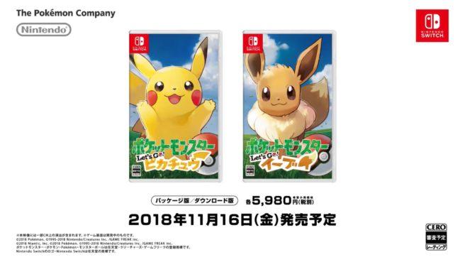[Atualizado] Pokémon Let's Go, Pikachu! e Pokémon  Let's Go, Eevee! são  anunciados para o Nintendo Switch; Detalhes