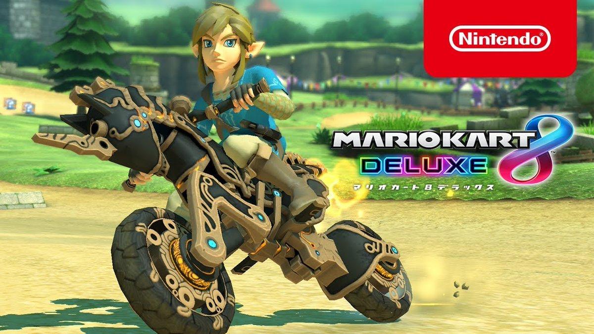 Mario Kart 8 Deluxe recebe atualização onde adiciona conteúdo de The Legend of Zelda: Breath of the Wild