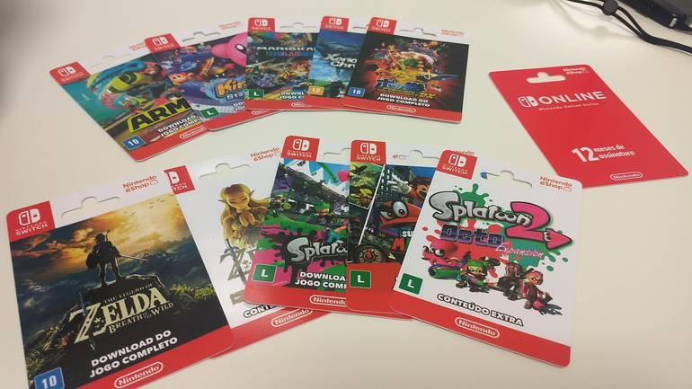 Nintendo venderá cartões pré-pago para jogos de Nintendo Switch no Brasil