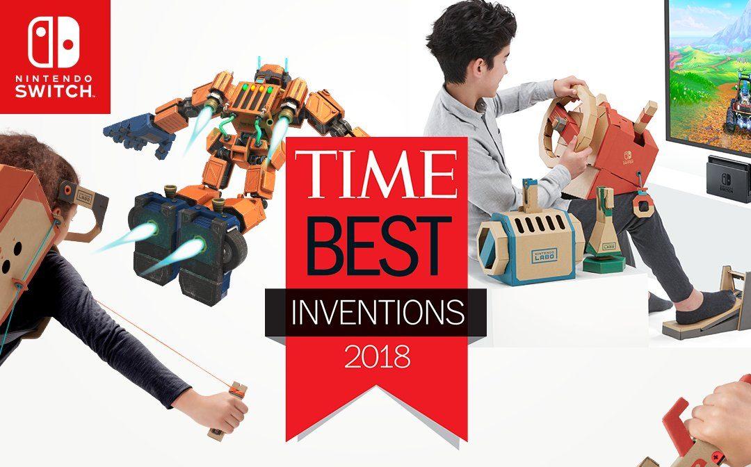 TIME nomeia o Nintendo Labo como uma das melhores invenções de 2018