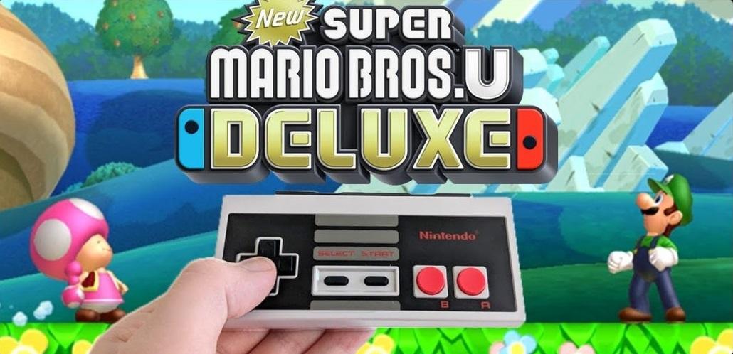 [Switch] New Super Mario Bros. U Deluxe suportará o NES Controller do Nintendo Switch