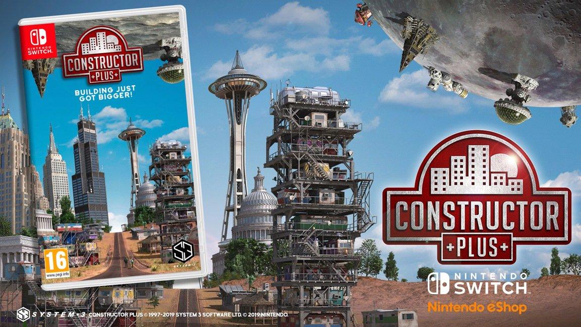 Constructor Plus chega ao Nintendo Switch no próximo mês; trailer