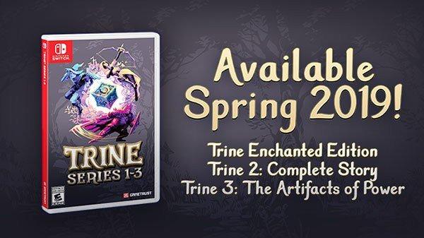 Frozenbyte anuncia Trine Series 1-3 para o Nintendo Switch; Trine 2: Complete Story chega na próxima semana