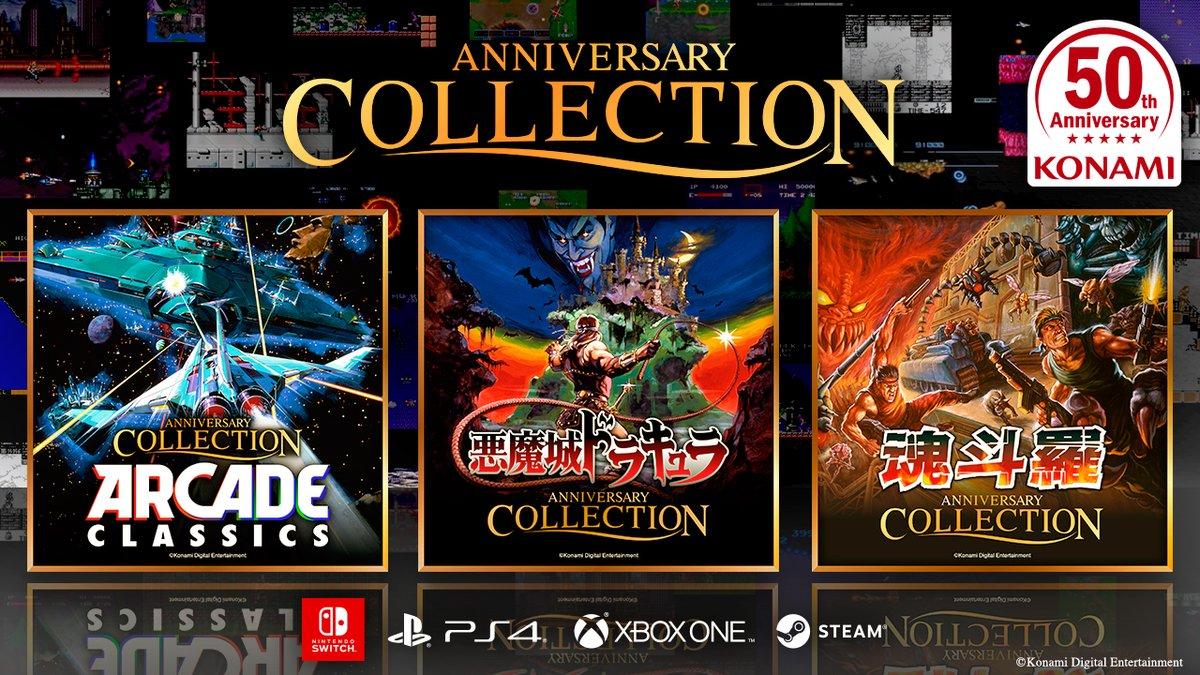 Konami anuncia Castlevania Anniversary Collection, Contra Anniversary Collection e Arcade Classics Anniversary Collection