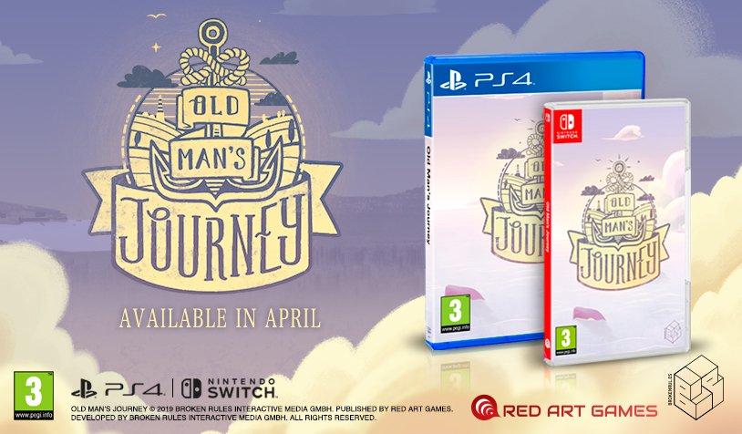 Red Art Games anuncia versão física de Old Man's Journey para o Nintendo Switch