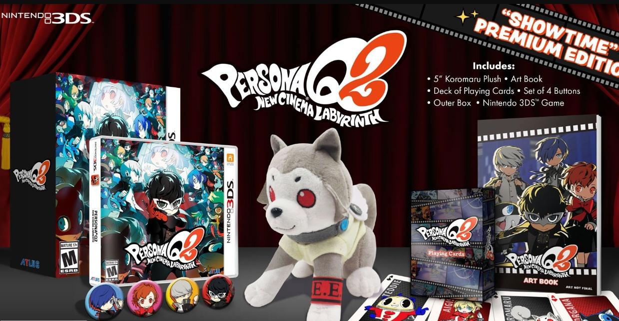 """Edição de colecionador Persona Q2 """"Showtime"""" Premium Edition terá estoque muito limitado e não será reabastecido"""