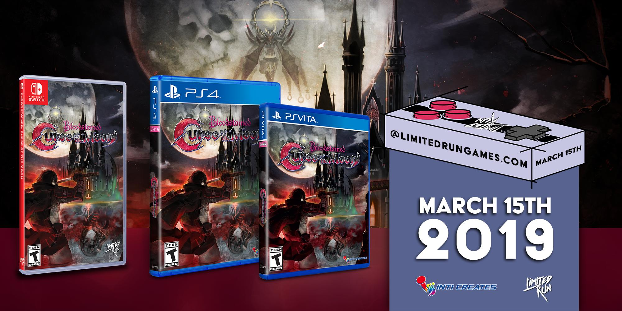 Limited Run Games anuncia versão física para Bloodstained: Curse of the Moon