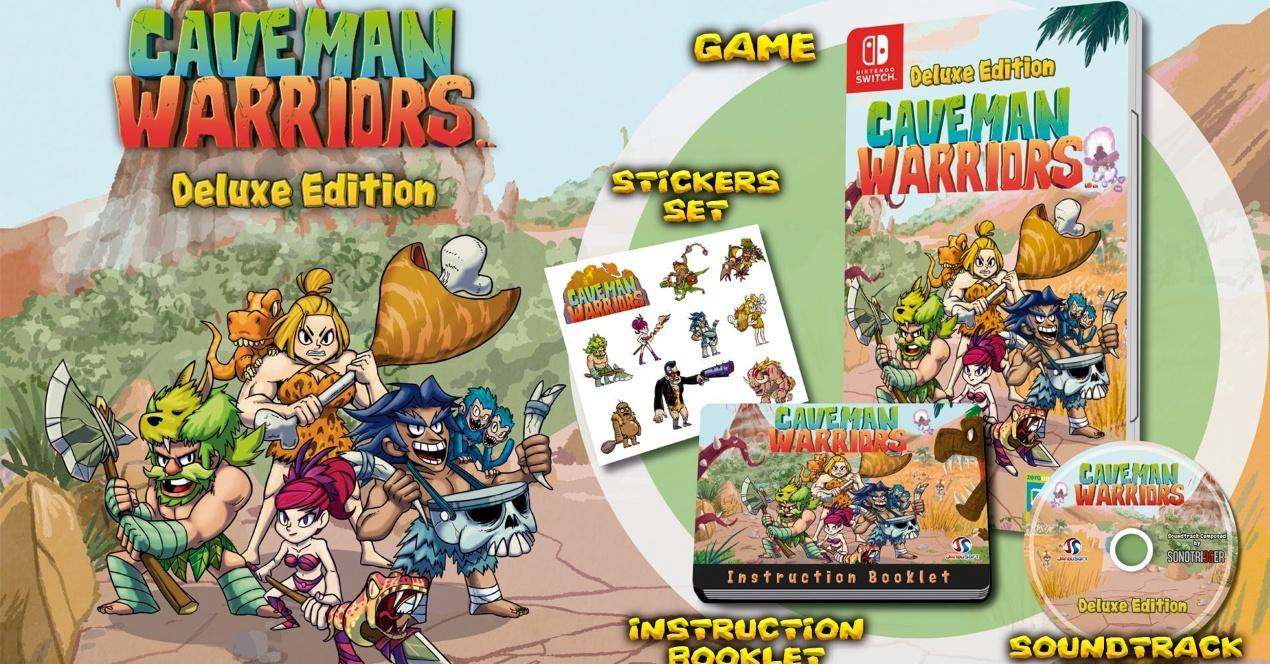 [Switch] Caveman Warriors: Deluxe Edition chega às lojas na próxima semana