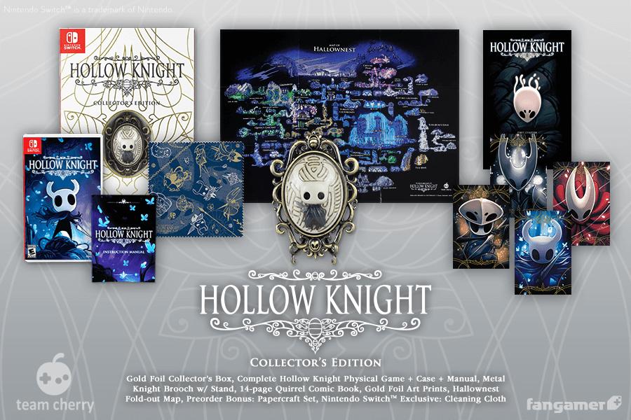Fangamer anuncia versão física para Hollow Knight e edição de colecionador para o Nintendo Switch