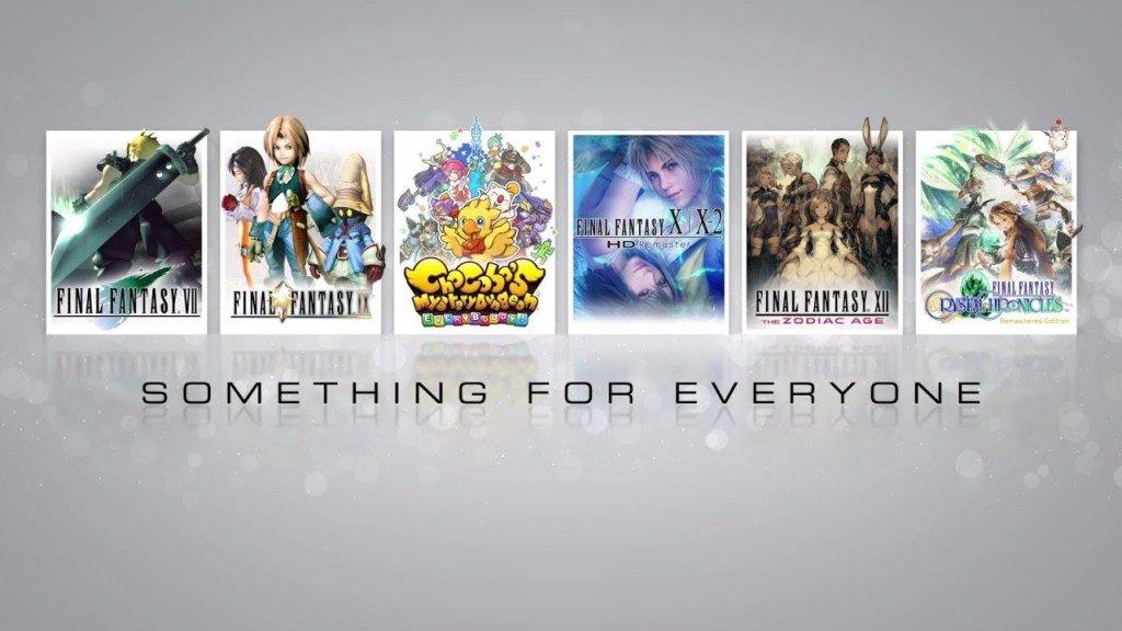 """Square Enix lança trailer """"Something for Everyone"""" destacando os jogos de Final Fantasy que serão lançados no Nintendo Switch"""