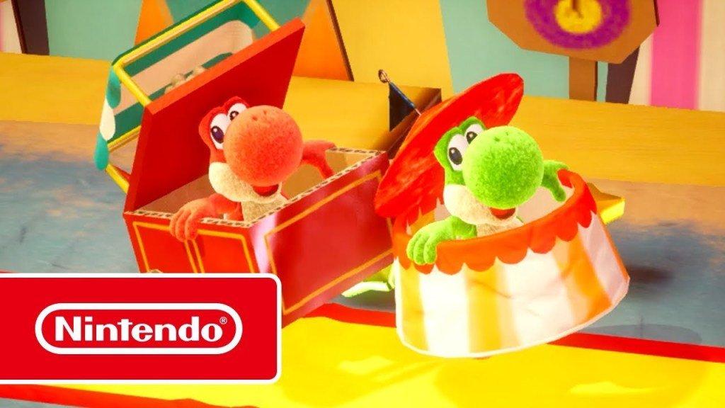 [Switch] Yoshi's Crafted World ganha novo trailer focado no multiplayer