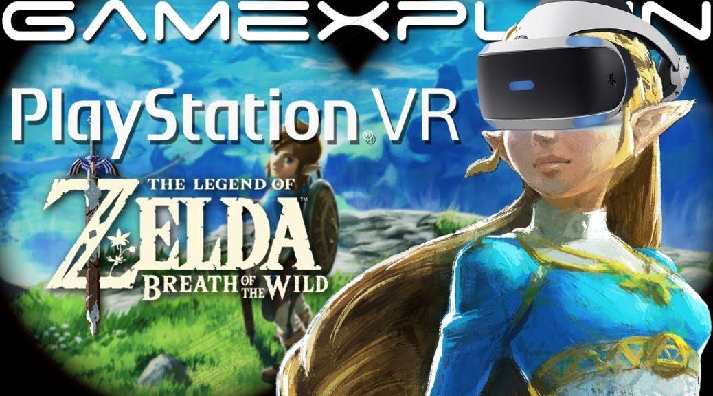 A GameXplain descobriu como jogar The Legend of Zelda: Breath of the Wild VR com o PSVR
