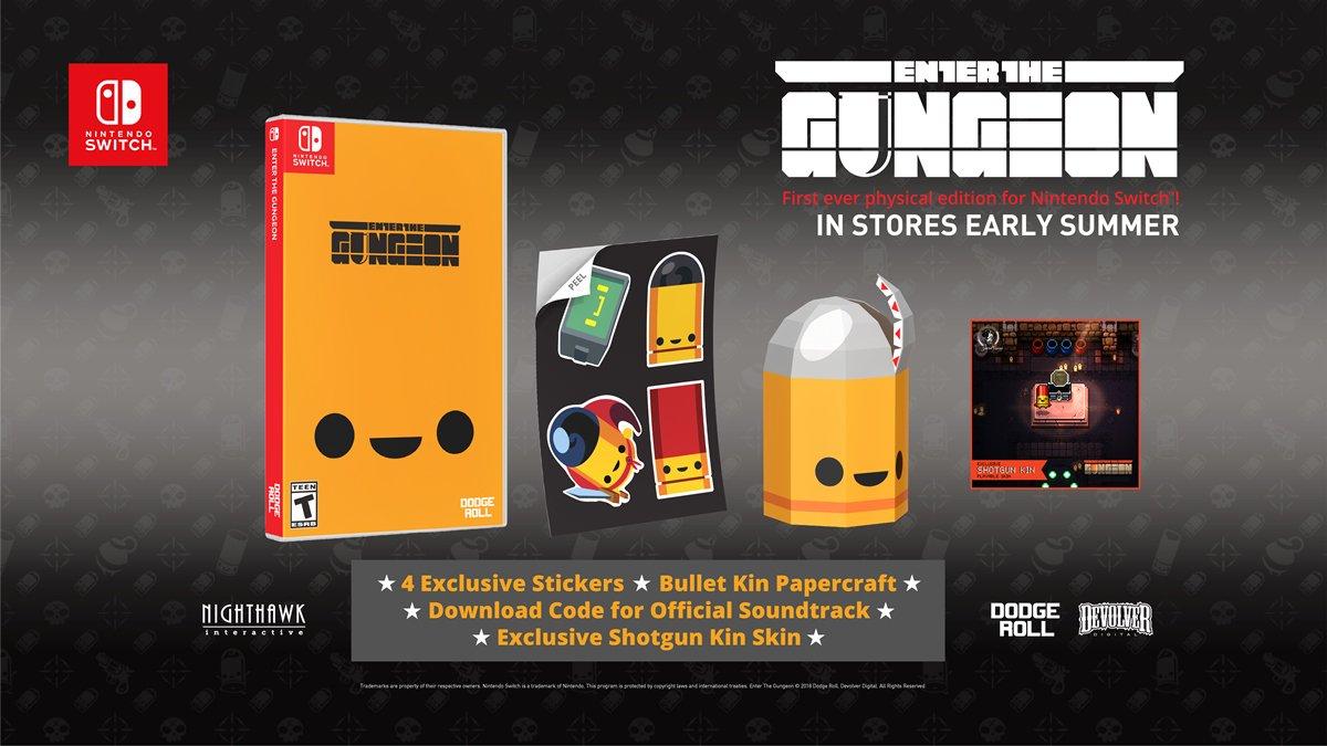 [Switch] Nighthawk Interactive publicará Enter the Gungeon fisicamente na América do Norte
