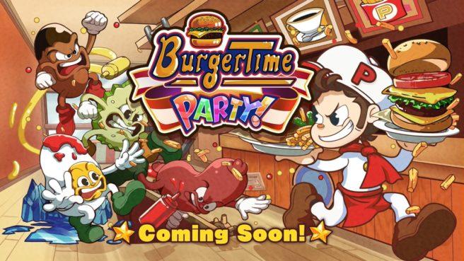 BurgerTime Party! é anunciado para o Switch; Teaser