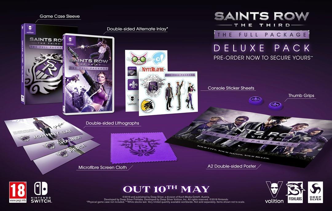 [Switch] Saints Row: The Third – The Full Package terá edição de colecionador na Europa
