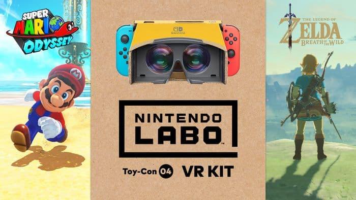 Super Mario Odyssey e The Legend of Zelda: Breath of the Wild passarão a ter suporte ao Nintendo Labo: VR Kit