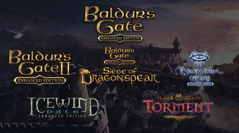 Baldur's Gate, Baldur's Gate II, Planescape: Torment, Icewind Dale e Neverwinter Nights chegam ao Switch no outono americano