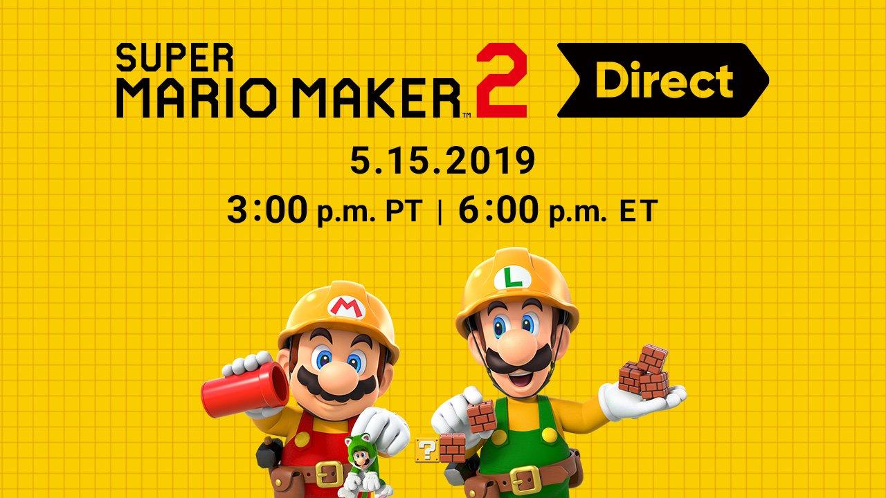 Nintendo anuncia Super Mario Maker 2 Direct para esta quarta-feira