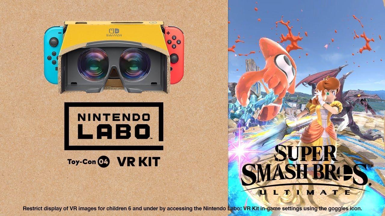 Atualização de Super Smash Bros. Ultimate onde adiciona o modo VR ganha trailer