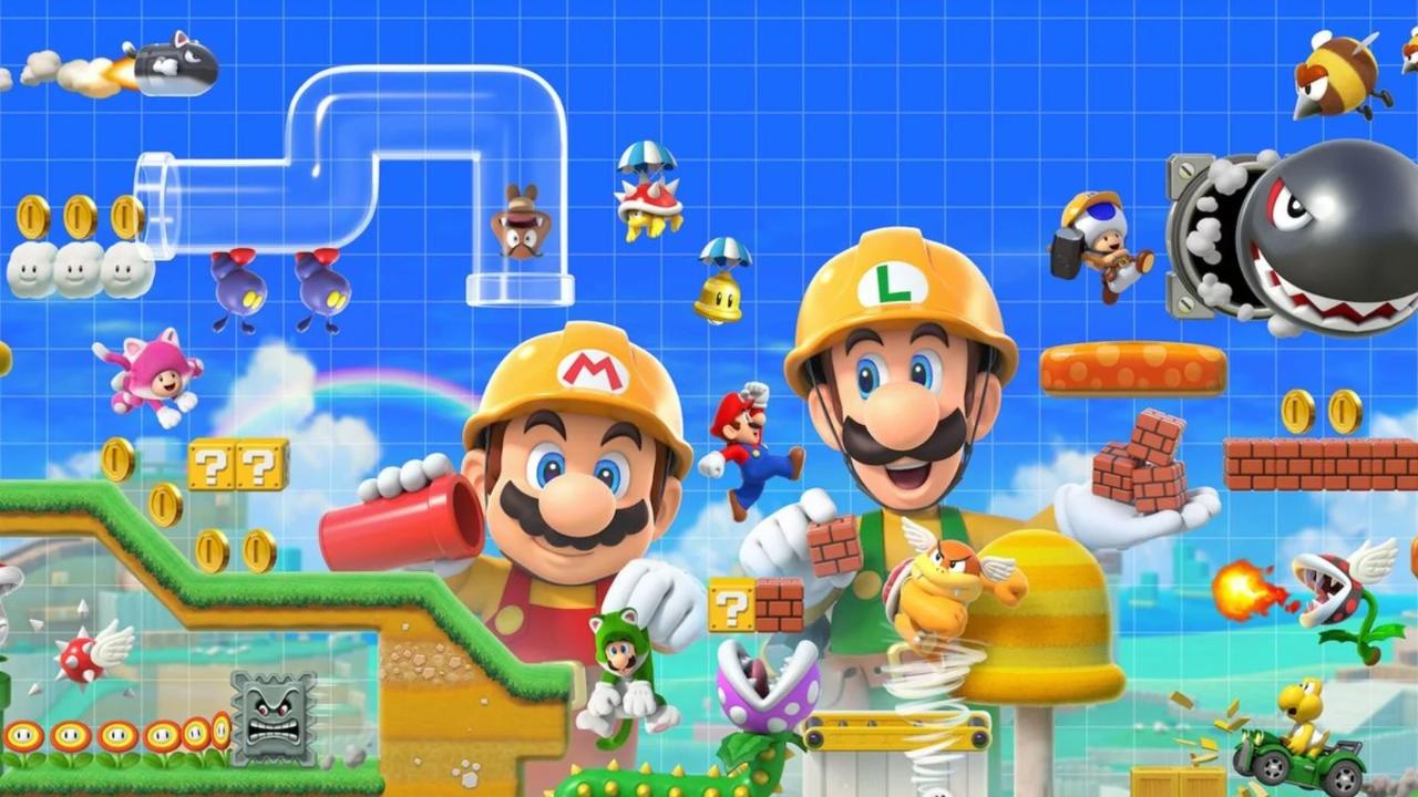 [Switch] Super Mario Maker 2 terá modo história, multiplayer online e local