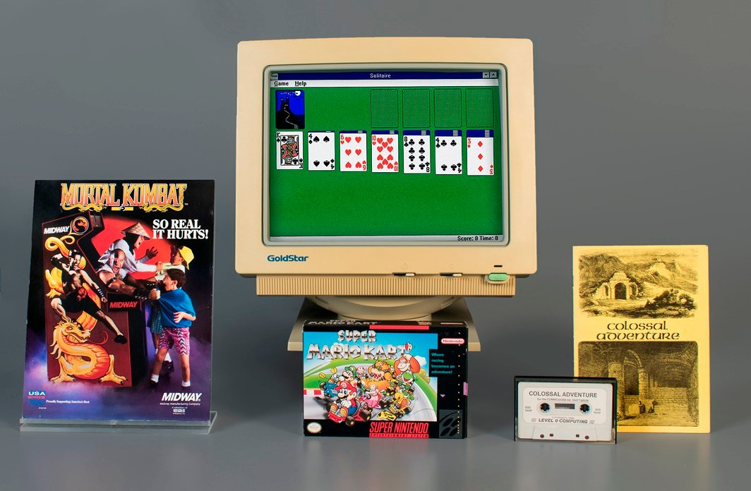 Super Mario Kart, Colossal Cave Adventure, Mortal Kombat e Solitaire entram para o World Video Game Hall of Fame
