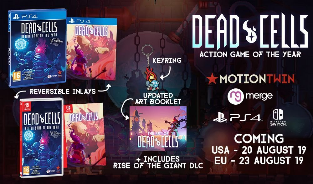 Merge Games anuncia Dead Cells: Action Game of the Year para o Nintendo Switch