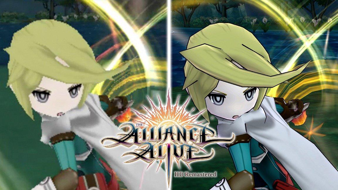 [Switch] The Alliance Alive HD Remastered chega em outubro no ocidente; Trailer compara a versão do 3DS com o remaster em HD
