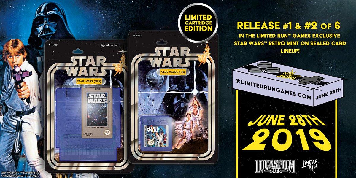 Limited Run Games estará relançando cartuchos do jogo Star Wars para o NES e Game Boy