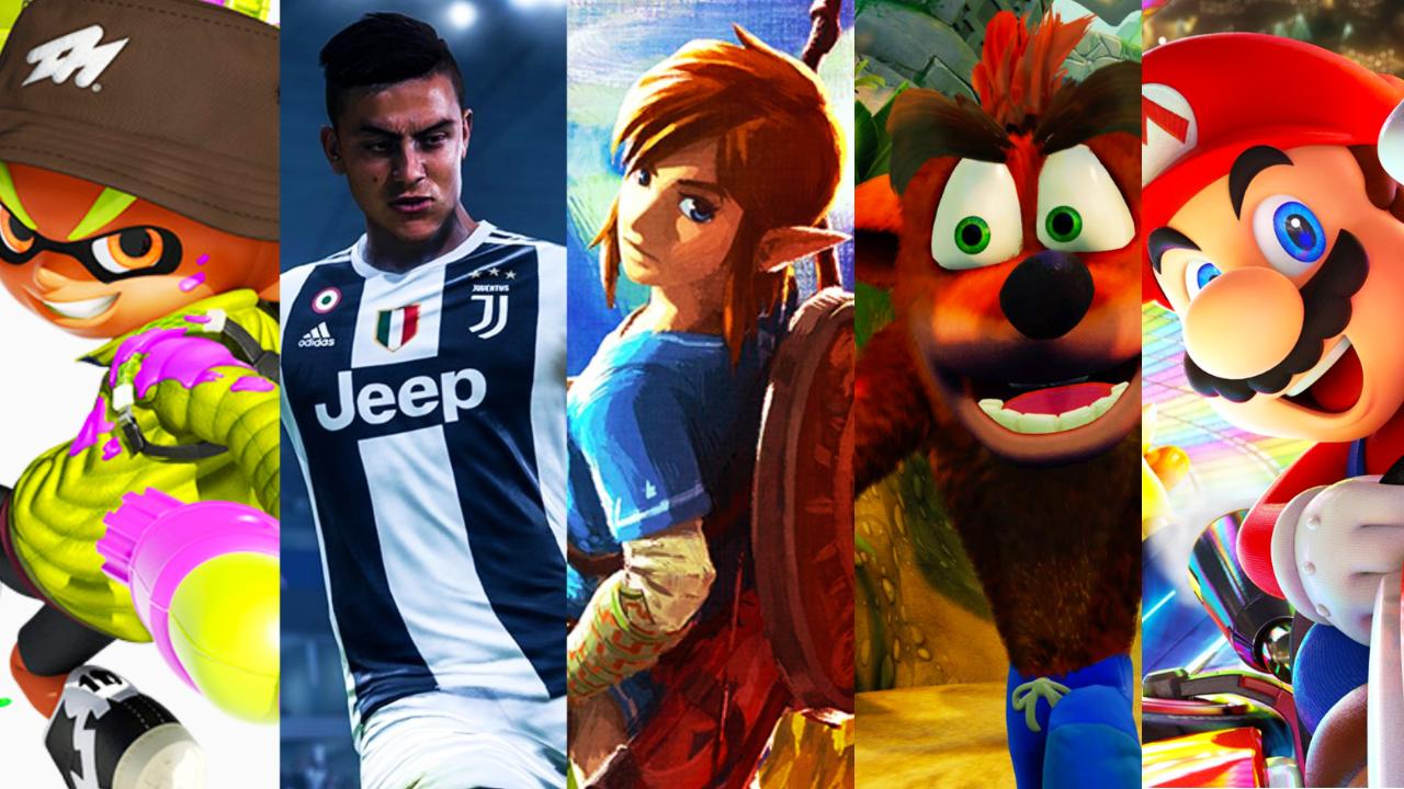 Espanha: Top 20 jogos mais vendidos do Nintendo Switch desde o lançamento