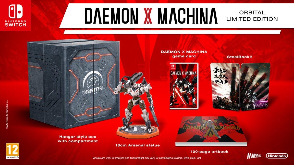 [Switch] Nintendo of Europe e Marvelous anunciam Daemon X Machina Orbital Limited Edition