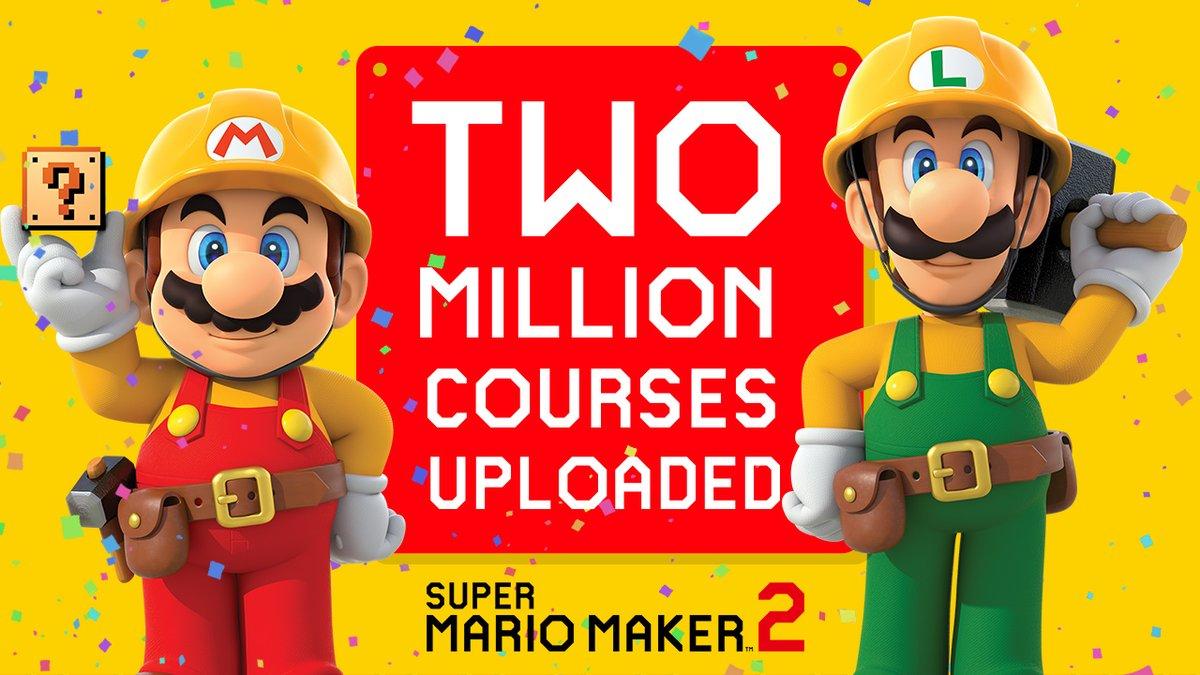 Super Mario Maker 2 – Mais de 2 milhões de uploads de fases foram feitos desde o lançamento do jogo